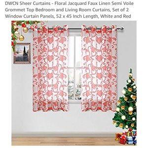 Curtains 54 x 45 BRAND NEW sheer beautiful